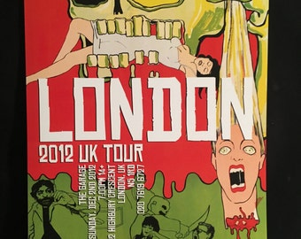Blackbox Astro Zombies UK 2012 Tour Poster London Signed/Numbered