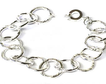 Retro Finish Chain Link Bracelet