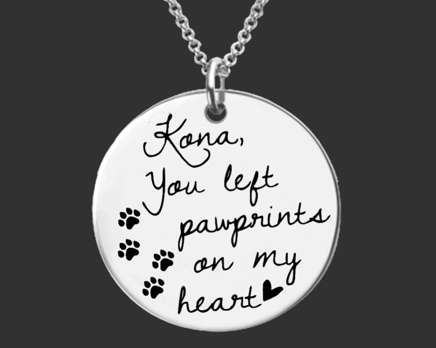 Pet Memorial Jewelry | Bereavement Gifts | Dog Memorial Gift | Dog Memorial Gift | Personalized Gifts | Korena Loves