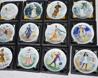 Women of the Century – set of 12 plates – Collectibles plates – Decorative plate – Porcelain fine-Art Plate Gift for her – Christmas Gift,