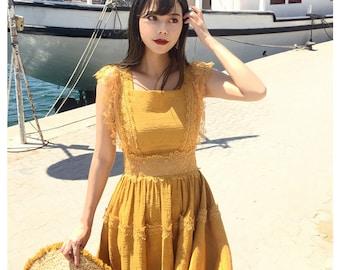 Mr. Water Summer Vintage Lace Dress