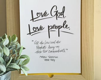 Love God, Love People/Downloadable Print