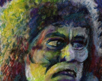 original art  aceo drawing Halloween vintage Horror Movie Hunchback Notre Dame Lon chaney