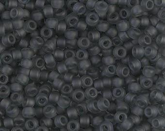 8/0 Miyuki Matte Transparent Gray Seed Beads, 15 grams - 1339 - Miyuki 8-152F Matte Grey, Matte Gray Miyuki 8-152F
