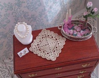 Miniature silk chrochet doily