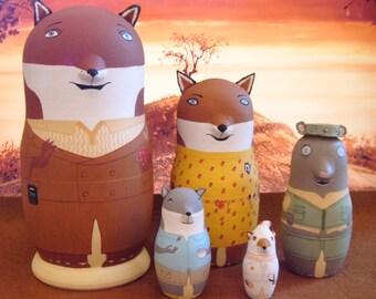 The Fantastic Mr. Fox Matryoshka Dolls