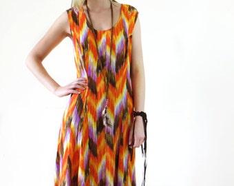 Floral Rayon Maxi Dress  Floral Print Dress Garden Party Dress