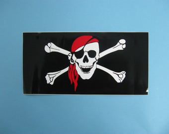 Jolly Roger Pirate Bumper Sticker (1160-10-11)