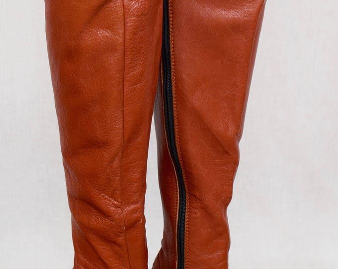 Vintage 1970's ELDITA'S Women's Huge OTK PLATFORM TaLL HiPPiE DiScO BoHo BooTs Size 6.5  /  7