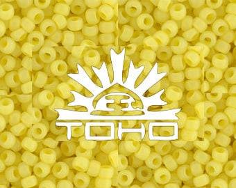 Frosted Ceylon Lemon Chiffon #902F Toho Japanese Glass Size 8 Seed Beads 8/0 +/- 19g Tube #z254