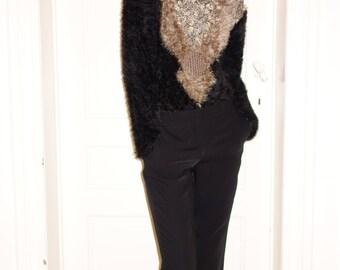 Unique Teddybear Pullover warm/winter/cozy/ brown/black