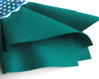 Malachite, Blue Green Felt, Wool Felt Sheet, 100% Merino, DIY Craft Supply, Felted Wool, Washable Felt, Nonwoven Fabric