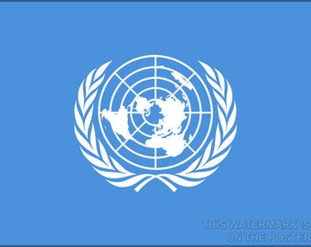 Poster, Many Sizes Available; Flag Of The United Nations