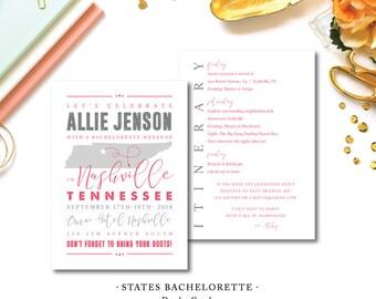 States Bachelorette Invitations