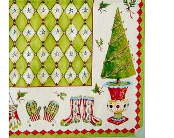 Set of 3 winter-motives NOE129 paper napkins