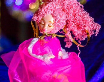Sleeping steiner doll - waldorf pocket doll - bedtime toy