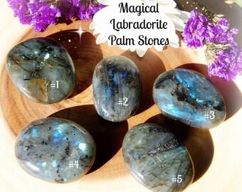 Labradorite Palm Stones, Protection, Magic, Energy, Transformation, Change, Healing, Pick Your Stone!