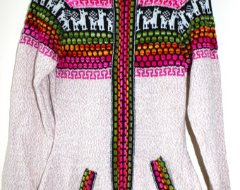 Alpaca fitted cardigan