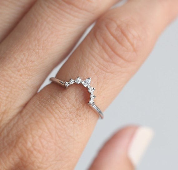 White Gold Wedding Ring White Gold Diamond Ring Diamond