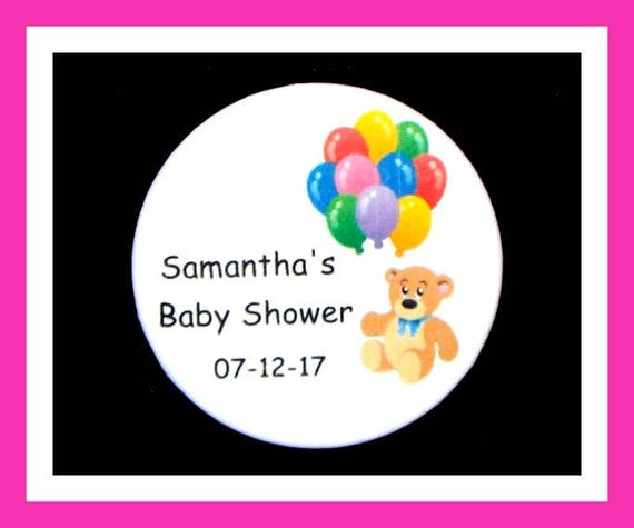 Baby Shower Bear Pins,Personalized Buttons,Favor Tags,Its a girl,Its a Boy,Party Favors,Birthday Party Favors,Personalized Favors,Set of 10