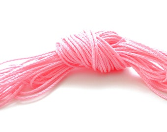 Polyester yarn - cord pacifier 1.5 mm-pink
