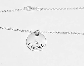 Steeples - Steeplechase -  Track & Field Event Charm Necklace .925 Sterling Silver Necklace