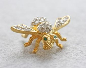 Vintage Bee Pin Joan River's Rhinestone Bee Pin Bee Brooch