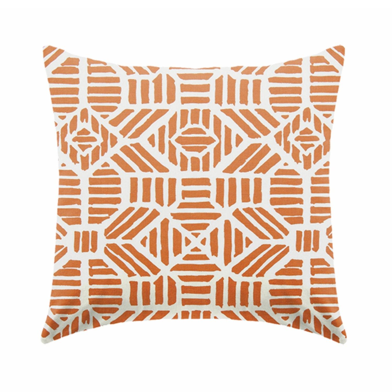 Burnt Orange Pillow Cover Coastal Pillow Cover Nautical