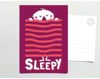 Postcard · Sleepy Monster · DIN A6