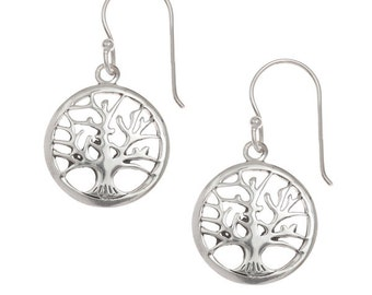 Beautiful Sterling Silver Tree of Life Earrings