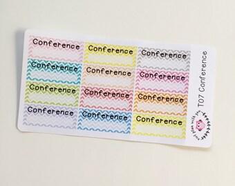 T07 || 12 Chevron Conference Stickers