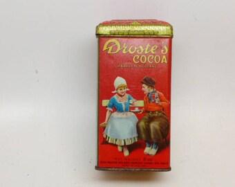 Vintage Droste's Cocoa Tin - Cocoa Tin - Vintage Tin - Decorative Tin