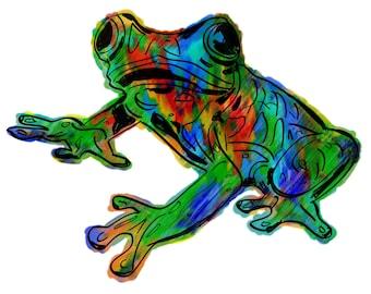 "Frog(1OG) Giclée Print - Cavanata - 8"" X 10"" Frog Graphic Fine Art Print, Original Illustration, Animal Art"