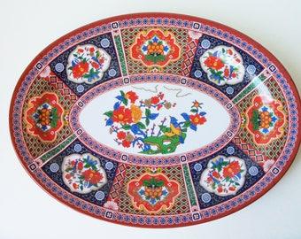 Vintage melamine decorative plate, good shape  (#EV177)