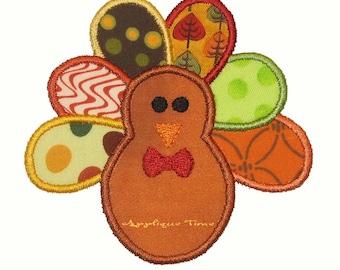 Instant Download Boy Turkey Machine Embroidery Applique Design 4x4, 5x7 and 6x10