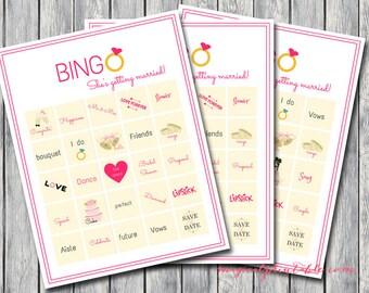 20 Bingo Bridal Shower Games, Printable Bridal Shower Games, Bridal Shower Game Prize, Printable bingo Bridal Shower Games, Hens Party bingo