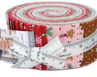 "Sugarplum Christmas - Jelly Roll (40) 2.5"" Strips  - MODA - Bunny Hill Designs - Christmas - Quilt fabric -"
