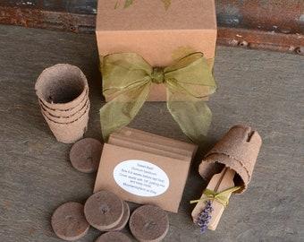 Herb Garden Kit, DIY Plant Kit, Grow Fresh, Organic Herbs, Great for Container Gardening, Garden Gift Set or Hostess Gift, Seed Supplies