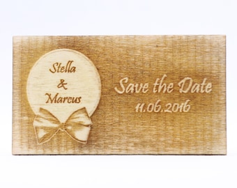 Rustic Save the Date Magnet, Custom Wedding Wood Favor Tags, Individualized Laser Cut Save the Date Reminder, Personalized Engraved Wood