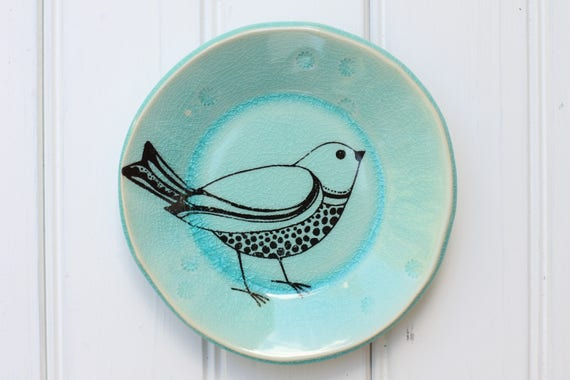 small bird plate // tapas plate // jewelry storage // dessert plate  // bird