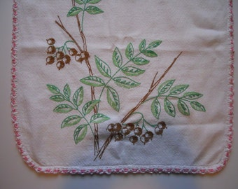 Vintage Embroidered Table Runner