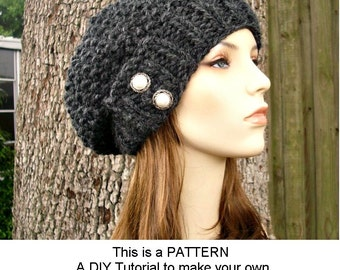 Instant Download Knitting Pattern - Knit Hat Knitting Pattern - Knit Hat Pattern for Seed Beret Hat - Womens Hat - Womens Accessories