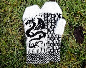 Fair-Isle-Handschuhe, Winter-Handschuhe, Tier Handschuhe, Winter-Accessoire, Stricken Stricken Handschuhe für Frauen