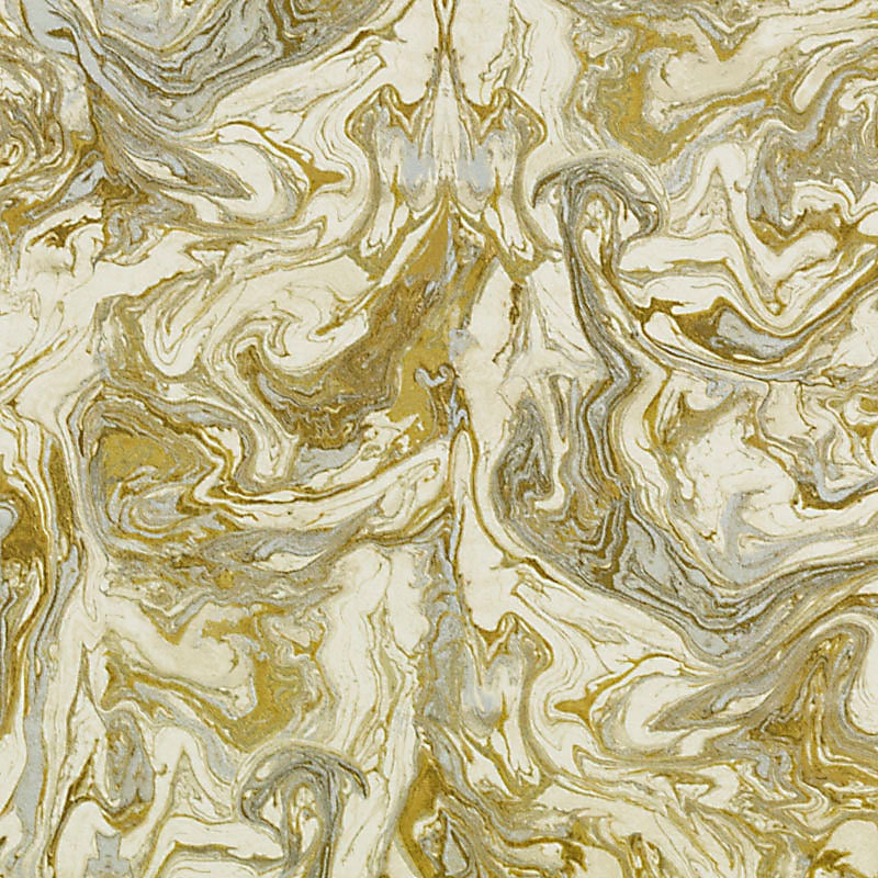 Gold Abstract Upholstery Fabric Metallic Fabric by the Yard