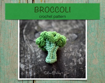 BROCCOLI Crochet Pattern PDF - Crochet broccoli pattern Amigurumi broccoli Crochet Vegetable pattern Crochet food pattern Play Food Broccoli