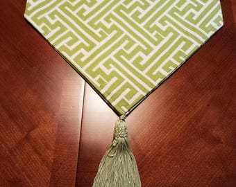 Bright Green Reversible Table Runner/Scarf