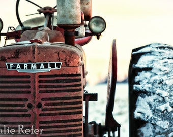 Vintage Tractor, Tractor Photography, Farm Photography, Rural, Red Tractor, Farmall