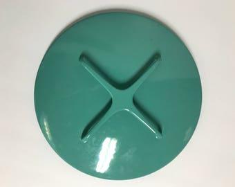 "Vintage Turqouise / Aqua/ Blue Dansk Kobenstyle Replacement Lid 9.5"""