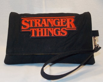 Wonderfully Whimsical Stranger Things inspired Wristlet Wallet Clutch Bag RTS