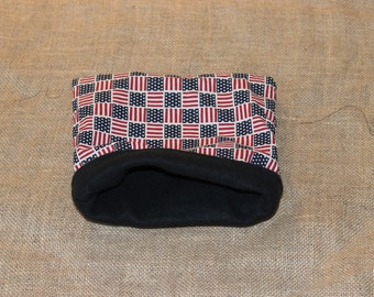 MEDIUM American Flag Pouch for Small Pocket Pets- Guinea Pigs, Rats, Rodents, Hedgehogs and more!